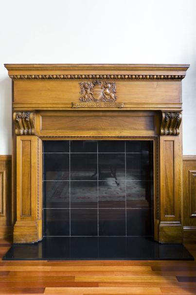 201 Sansome fireplace
