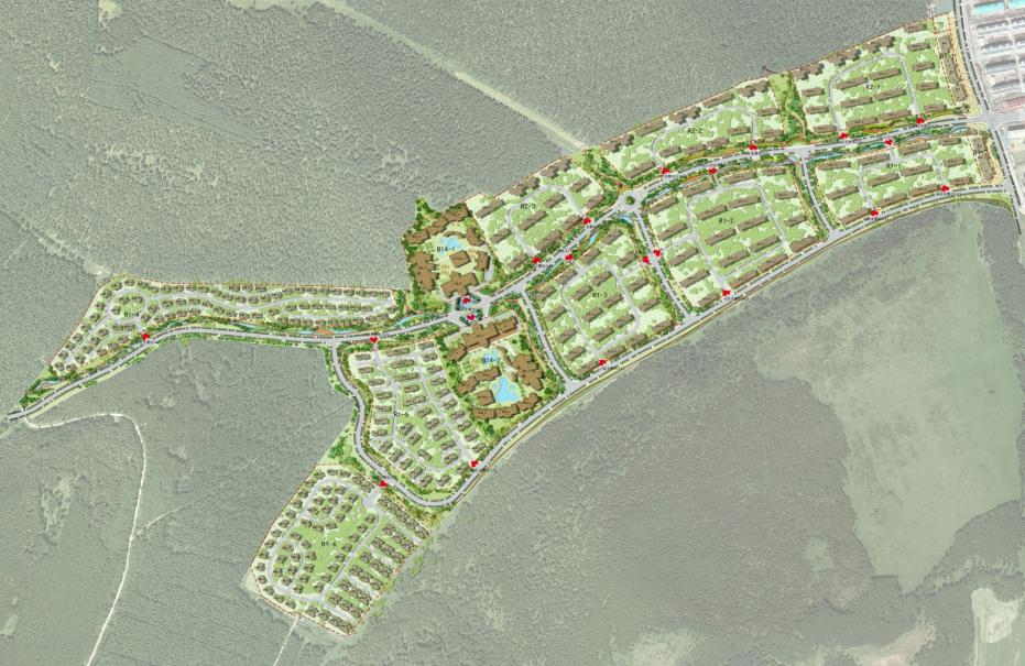Aershan Spring Snow Street Fongchan Valley Conceptual Planning
